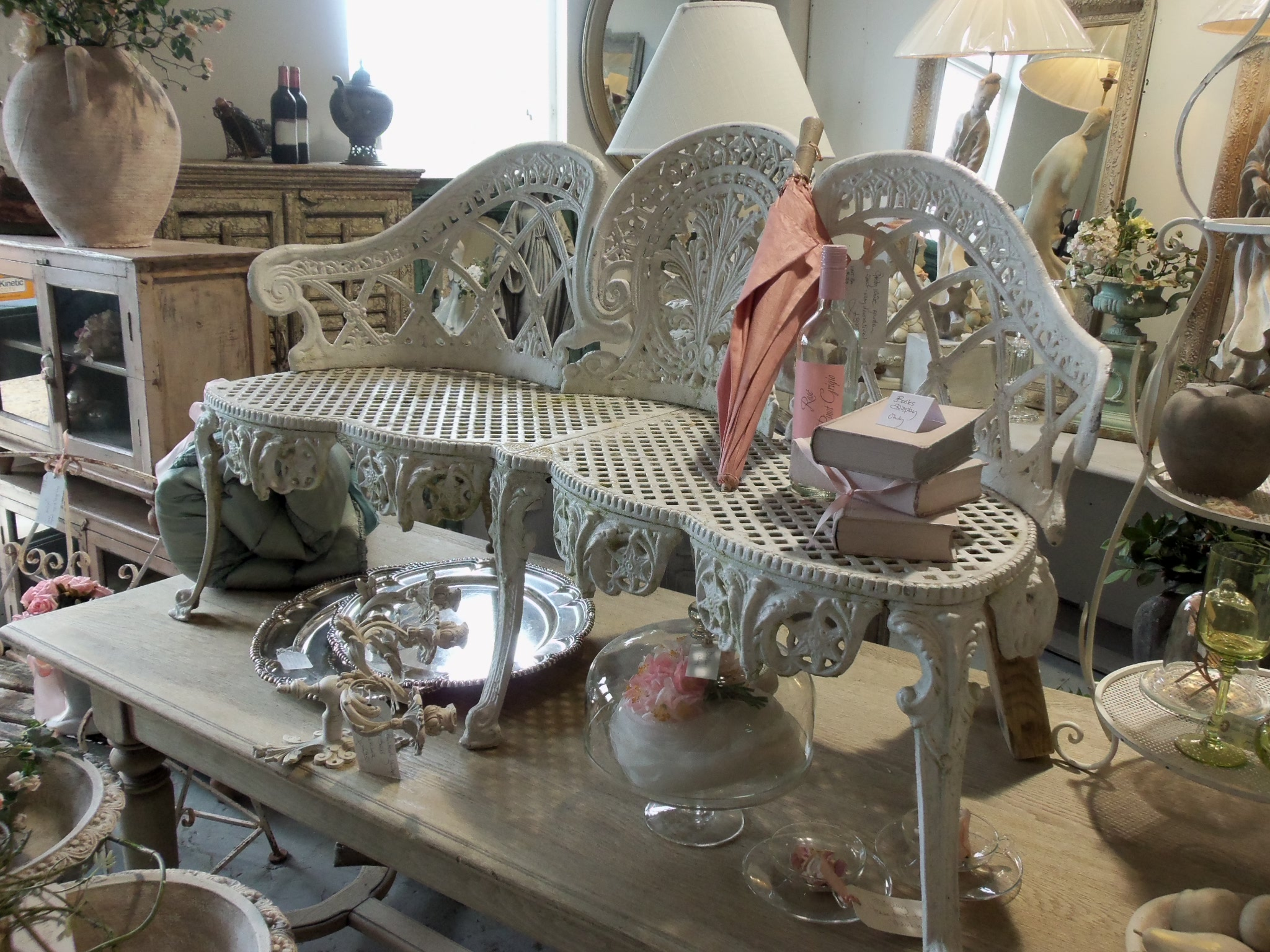 oxfordshire antique wrought iron bench