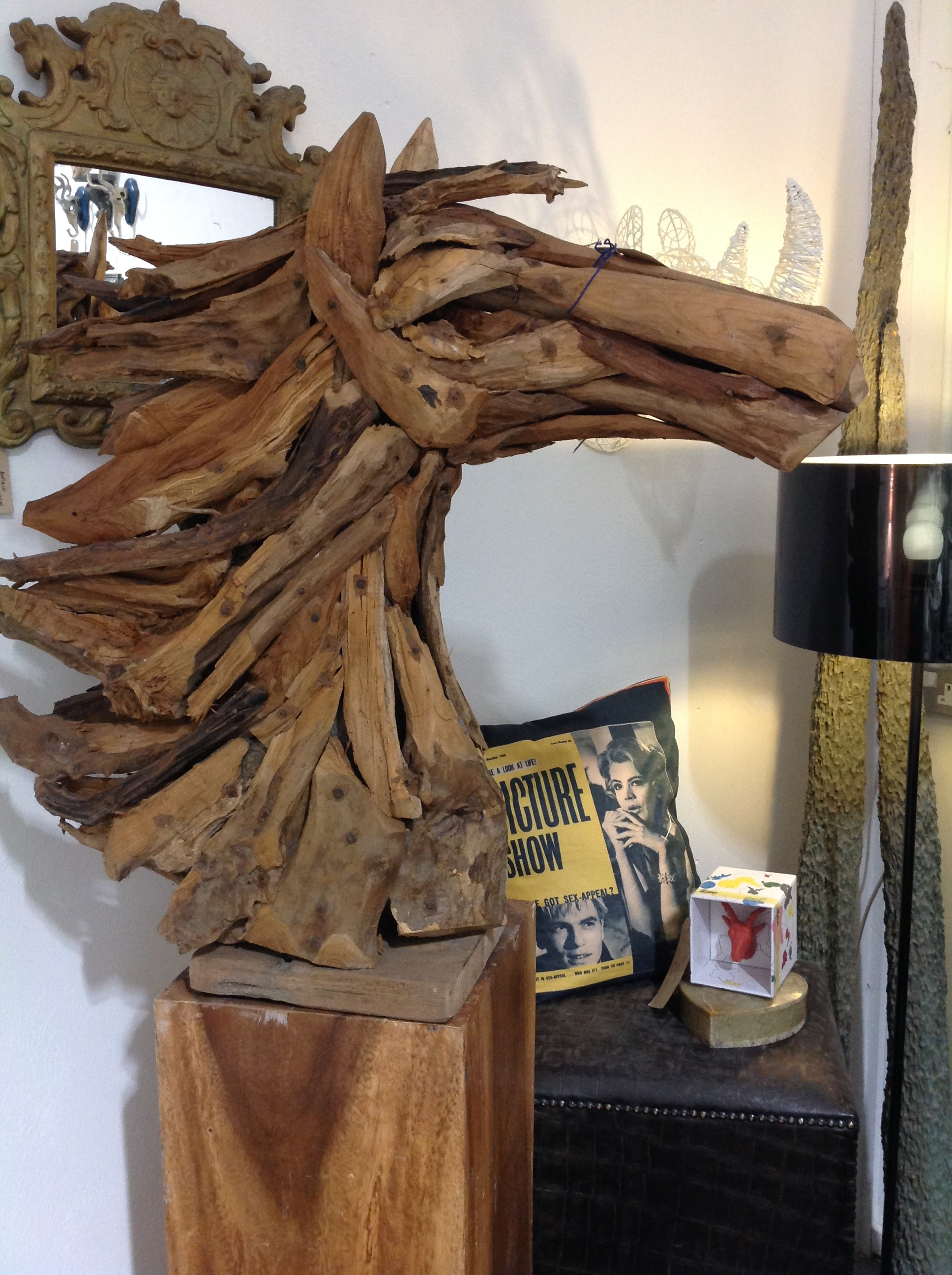 Driftwood Stallion Head, Oxford Antiques Centre