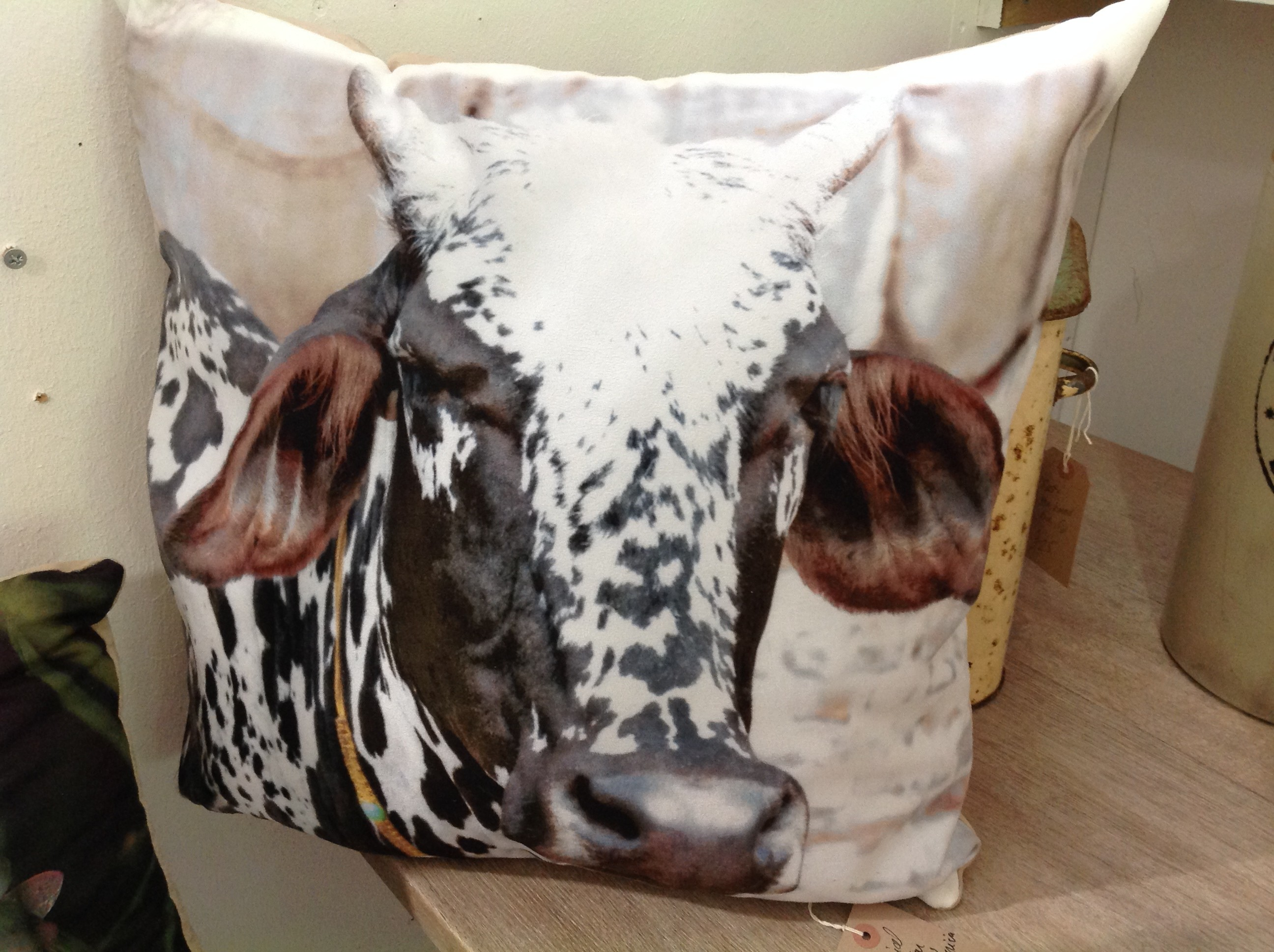 Indian Cow Cushion, Oxford Antiques Centre