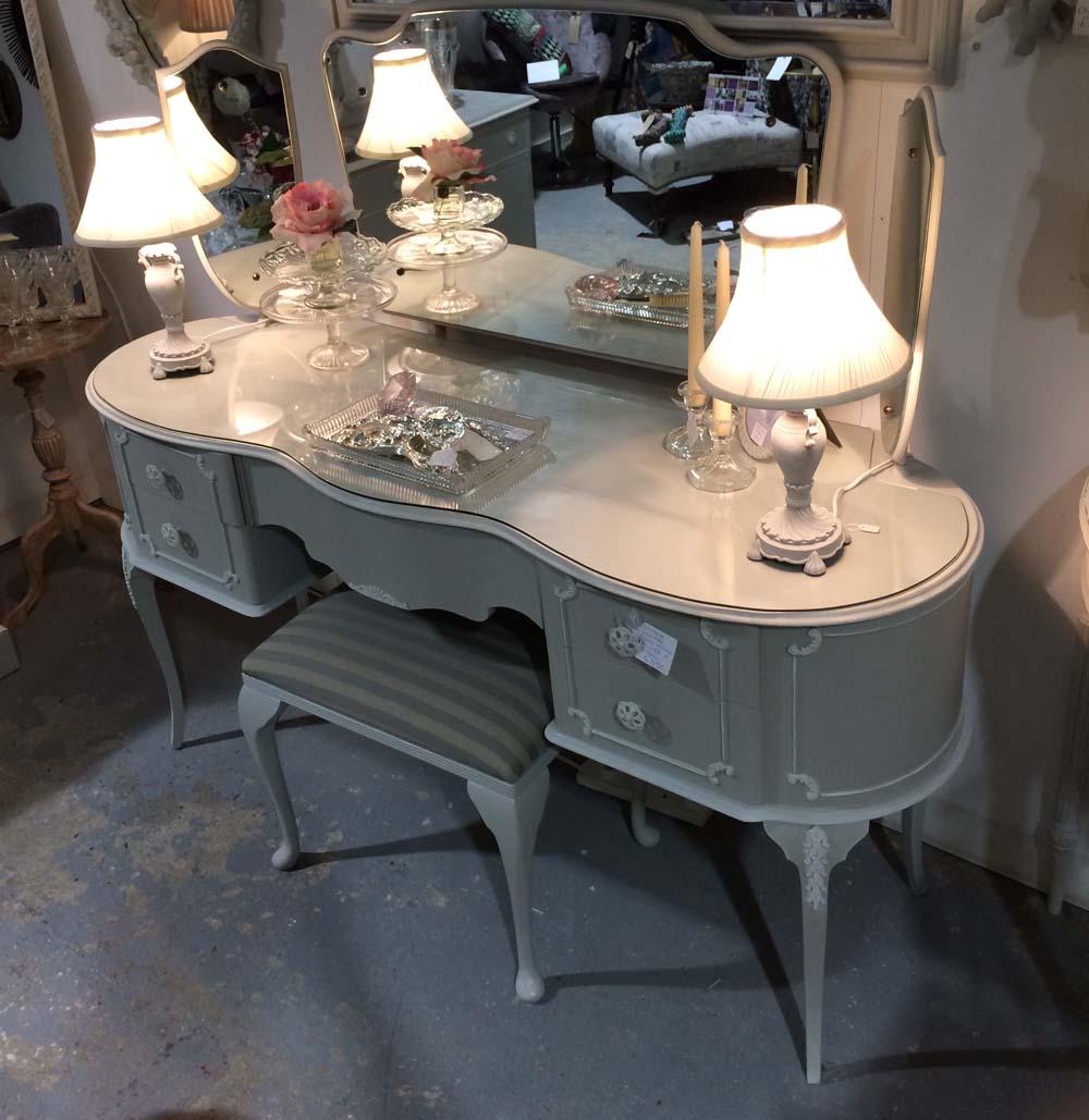 Vintage dressing table - Vintage Dressing Table Unit 12