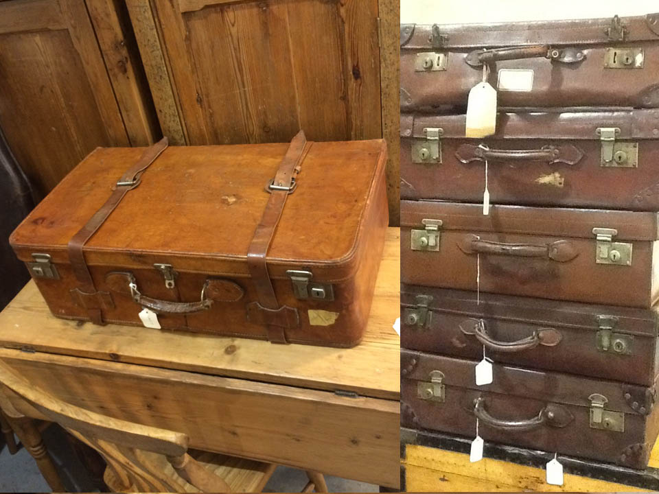 Vintage Leather Suicases