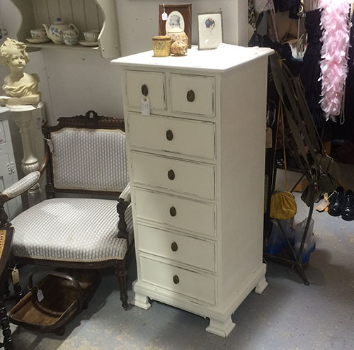 7 Drawer Tall Chest Unit 6 Vintage