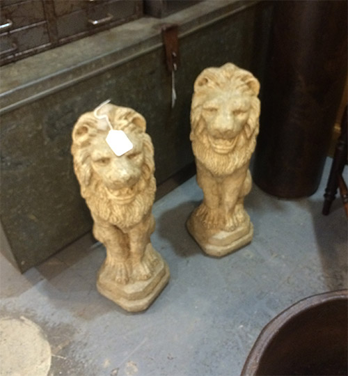 Pair of Garden Lions, Unit 37 Interiors