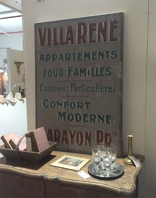 Villa Rene Sign, Unit 22 Vintage