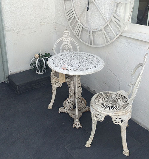 Vintage Cast Iron Garden Chairs, Unit 20 Vintage