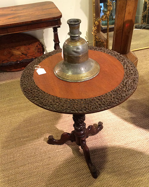 Anglo Indian Wooden Table, Unit 54 Antiques