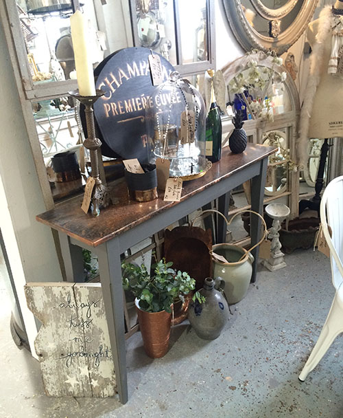 Copper Console Table, Unit 2 Interiors