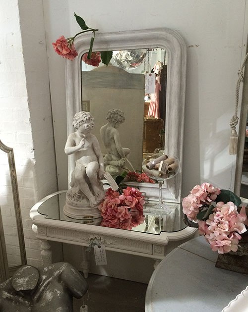 French Painted Mirror Unit 30 Interiors