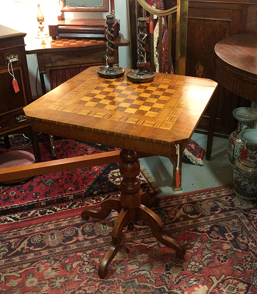Large Chequer Board Table, Unit 41 Antiques