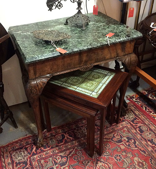 Marble top table, Unit 41 Antiques