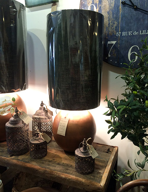 Rustic Copper Lamp and Shade, Unit 53, Interiors