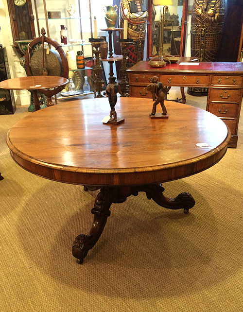 Victorian Rosewood Round Table, Unit 54 Antiques
