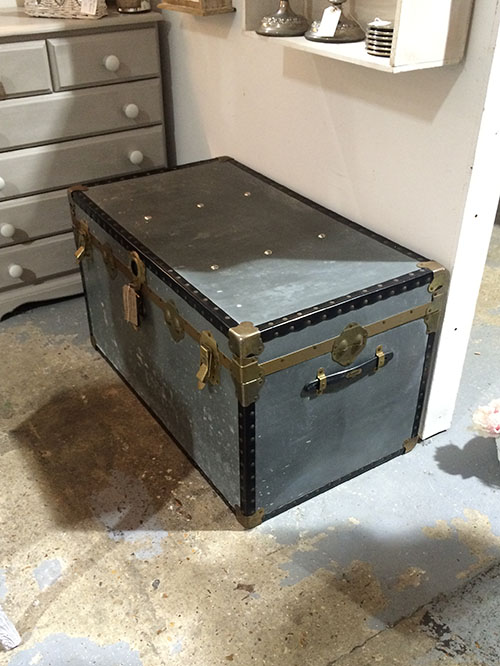 Vintage Tin Trunk Coffee Table, Unit 12, Interiors