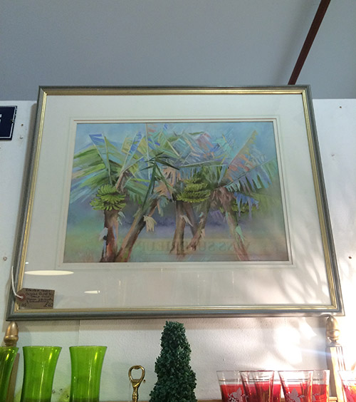 Banana Trees Original Pastel, Unit 45 Vintage