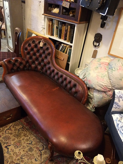 Chesterfield Leather Chaise Longue, Unit 40 Interiors