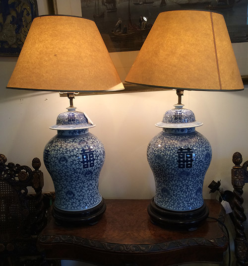 China Vase Lamp, Unit 54 Vintage