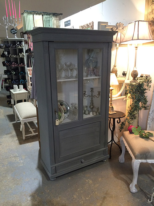 European pine display cabinet, Unit 15 Interiors