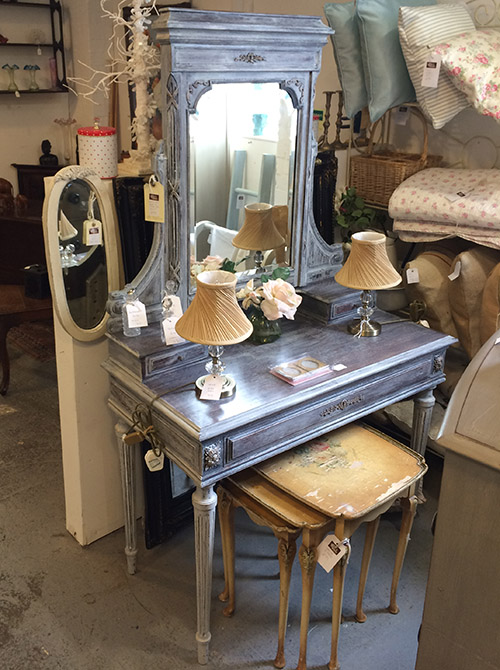 French Oak Dressing Table with Drawer, Unit 42 Interiors