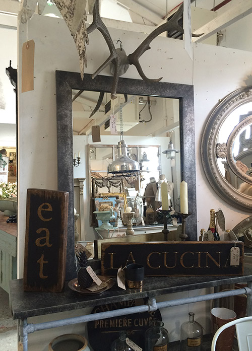 Handmade Zinc Mirror, Unit 2 Interiors