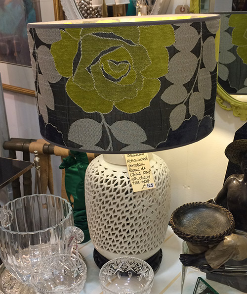 Stunning Reticulated Porcelain Lamp, Unit 52 Vintage