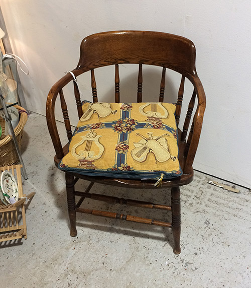 Wooden Captains Chair, Unit 32 Antiques