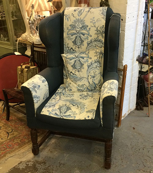 Upholstered Wingback Chair, Interiors