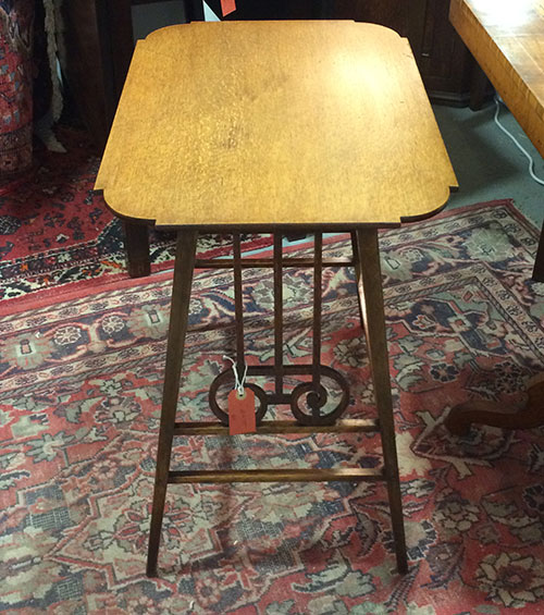 1920s Small Oak Table, Unit 41 Vintage