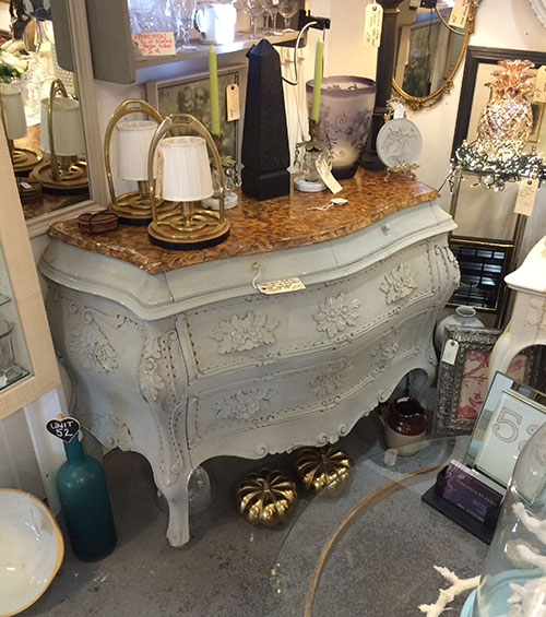 Haliau Chest of Drawers with painted Marble Top, Unit 52 Interiors
