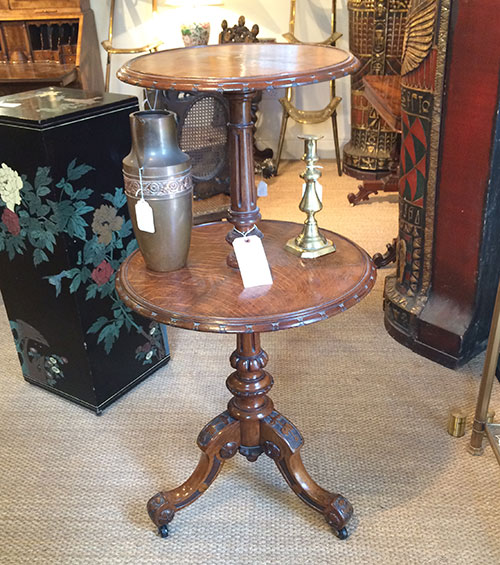 Victorian Oak Table, Antiques