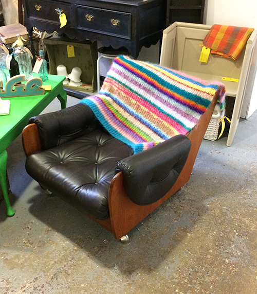 1960's G Plan Leather Chair, Unit 17 Interiors