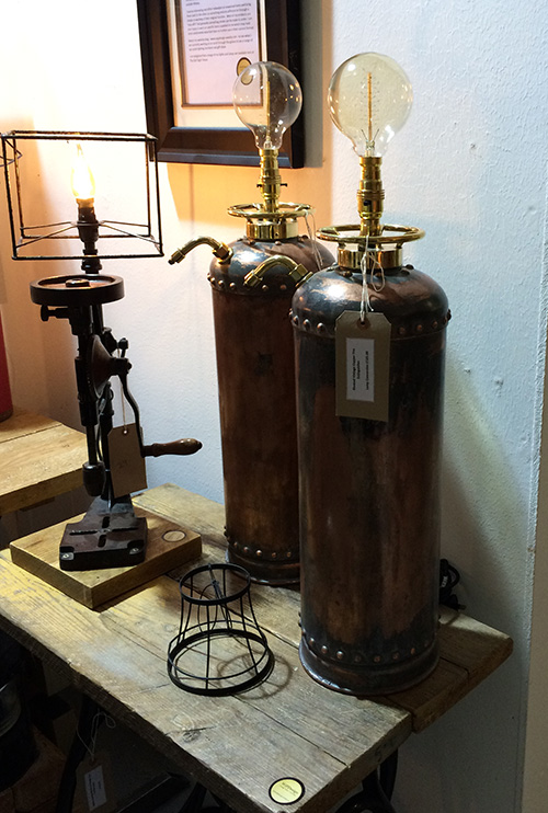 Copper Fire Extinguisher Lamp, Unit 29 Vintage