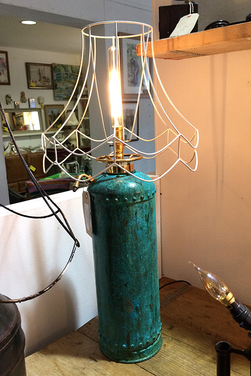 Copper fire extinguisher lamp, Unit 29 Interiors