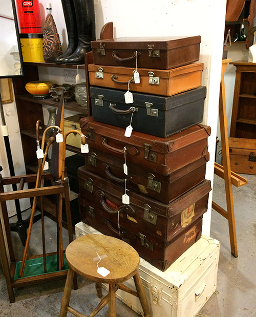 Leather suitcases, Unit 37, Vintage