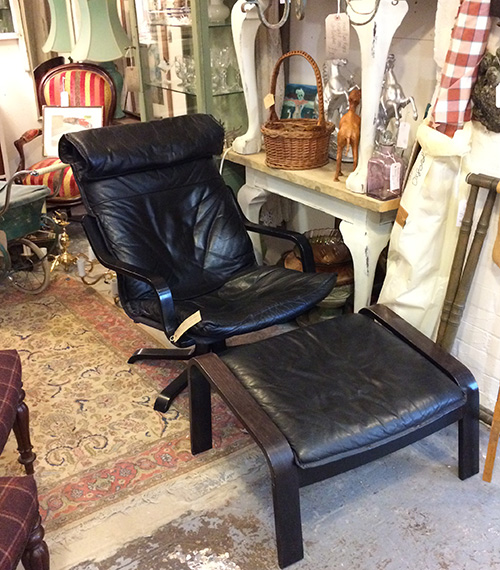 Retro 1970's Leather Chair, Unit 40 Vintage