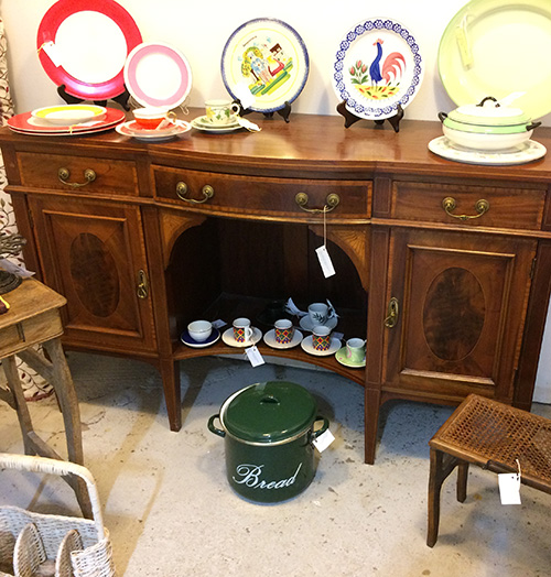 Sheraton Revival Edwardian Sideboard Boxwood, Unit 32 Antiques
