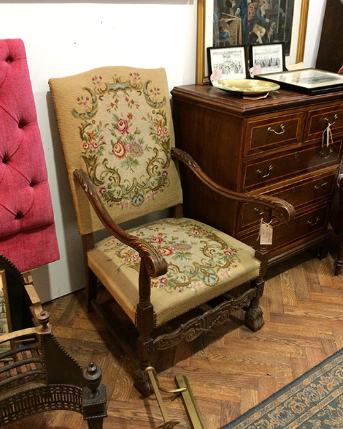 Victorian hand tapestry hall chair, Unit 56 Antiques