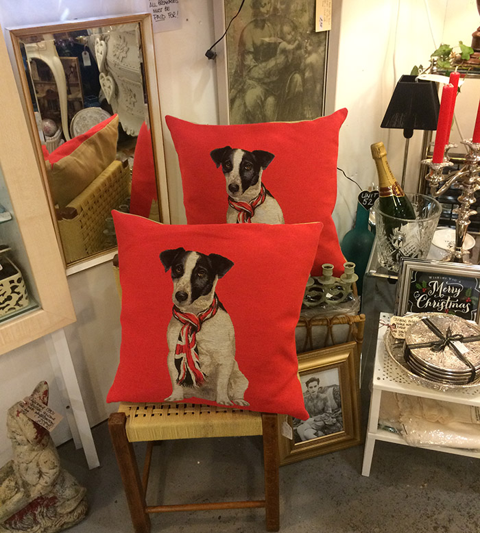 Red Jack Russel Cushions